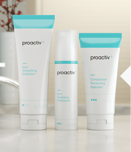 three tubes of proactiv plus creams