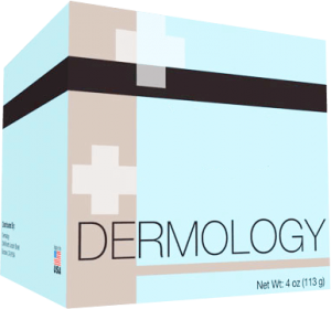 a box of dermology acne fighting cream