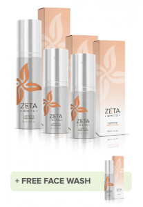 the zeta white three point whitening system