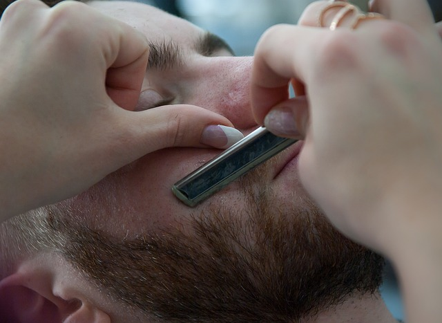 a guy gets a straight razor shave