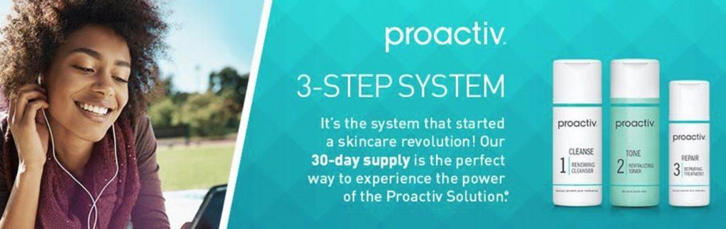 Proactiv's toner and three step treatment plan